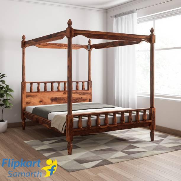 Vintej Home Sheesham Wood Solid Wood Queen Bed