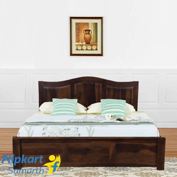 Vintej Home Iris Sheesham Solid Wood King Bed