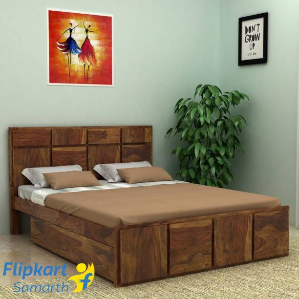 Vintej Home Solid Wood Queen Drawer Bed