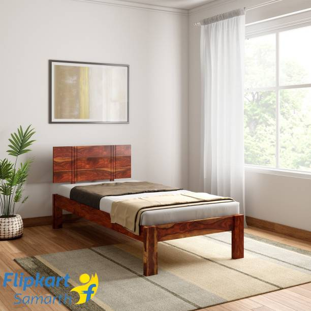 Vintej Home Sheesham Wood Solid Wood Single Bed