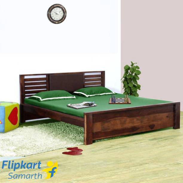Vintej Home Horizon Sheesham Solid Wood Queen Bed