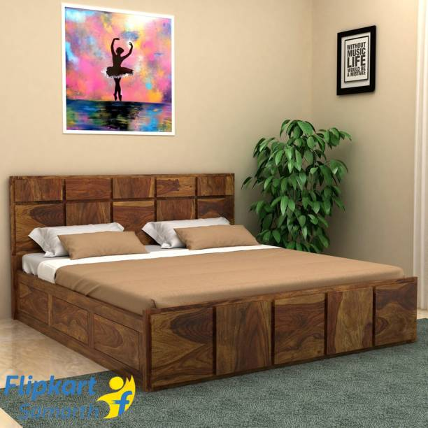 Vintej Home Solid Wood King Box Bed