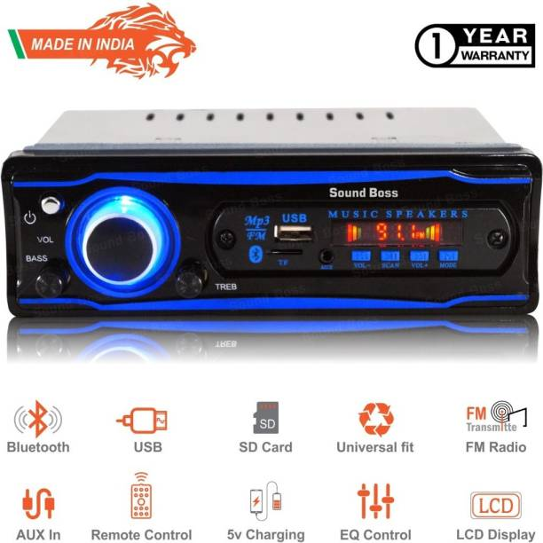 Sound Boss SB-0000BT(BLUE) BLUETOOTH/USB/SD/AUX/FM/MP3. Car Stereo