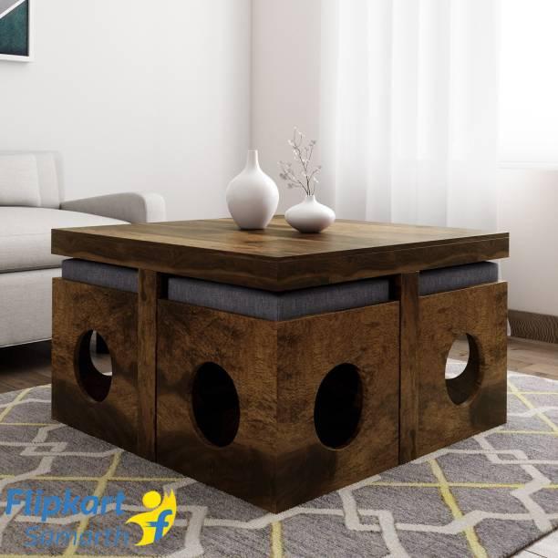 Vintej Home Sheesham Wood Solid Wood Coffee Table