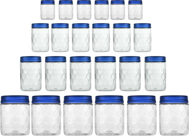 MILTON Hexa Pet Jar  - 270 ml, 665 ml, 1240 ml, 1850 ml Plastic Grocery Container