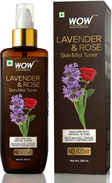 WOW SKIN SCIENCE Lavender & Rose Skin Mist Toner Men