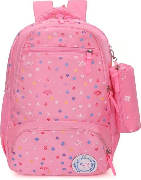 Tinytot SB115_03 School Backpack College Bag Travel Bag with Pencil Pouch 2nd Standard onward Waterproof School Bag