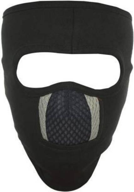 LA OTTER Black, Grey Bike Face Mask for Men & Women