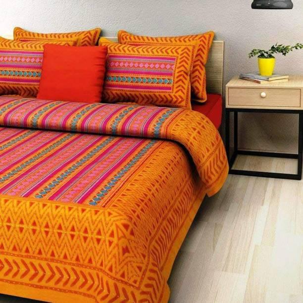 Kanha Online Shopping 200 TC Cotton Double Printed Bedsheet