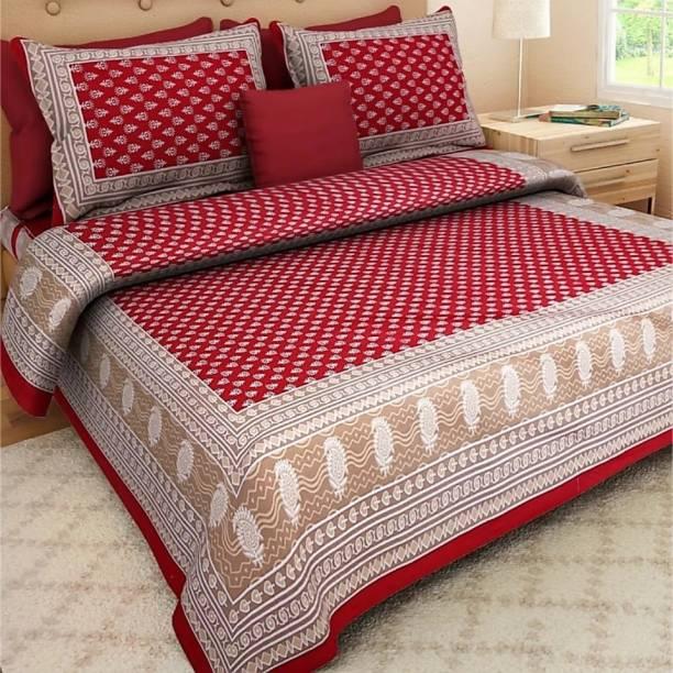 Elma 151 TC Cotton Double Floral Bedsheet