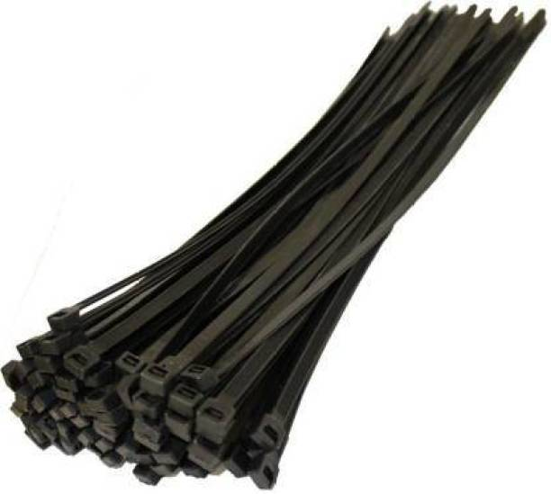 YUVAAN 6 inch Nylon Cable Ties Tie Wire Organiser Ties Pack of 100 , Black Nylon Flexible Straps Cable Tie