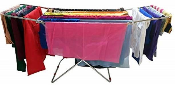 LIMETRO STEEL Steel Floor Cloth Dryer Stand SS-CLOTHSTAND-RODE