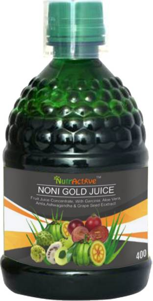 NutrActive Noni Gold Juice with Garcinia, Aloe Vera, Amla, Ashwagandha and Grape Seed Extract For Immunity Booster