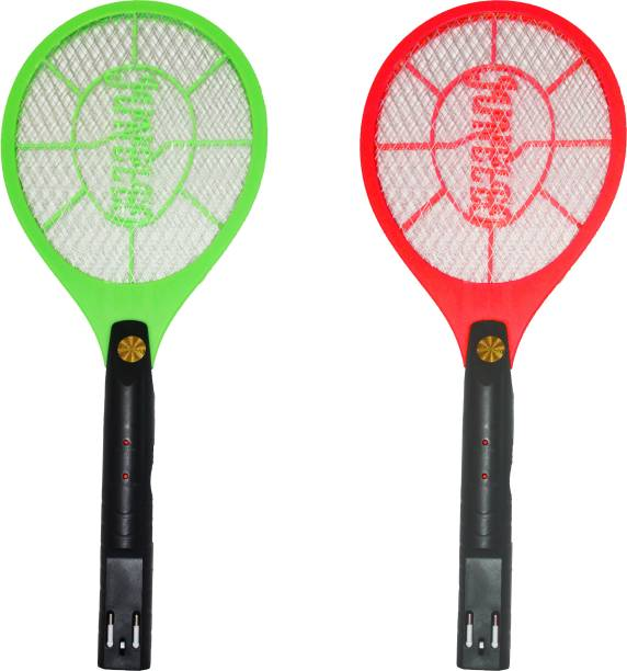 BAZAAR EXPRESS Rechargeable Electric Mosquito Fly Swatter| Mosquito Bat| Mosquito Trap-Racket (6 months warranty) | Pack Of 2 | Electric Insect Killer