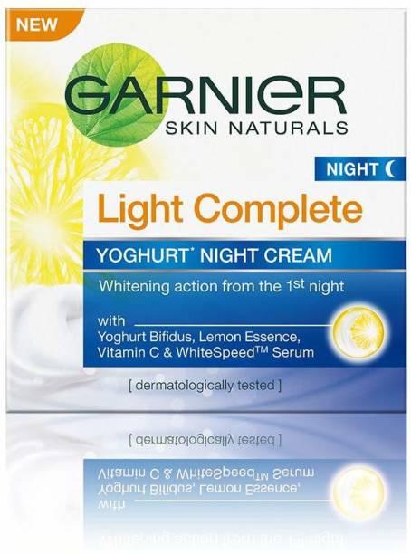 GARNIER Skin Naturals Light Complete Yoghurt Night Cream 40g Pack of 2