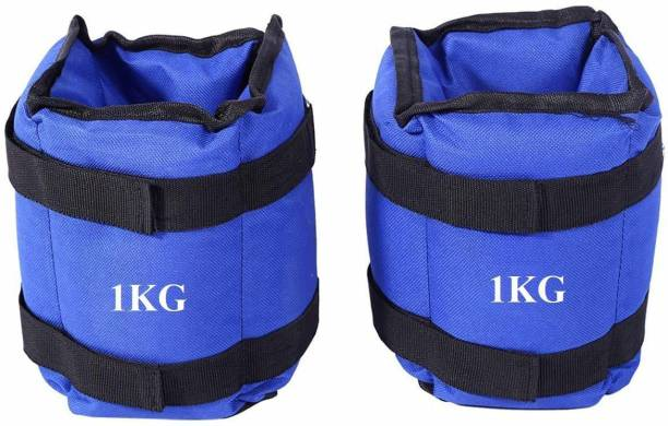 Gawin Ankle Weight For Wrist & Legs Each 1 Kg Blue Ankle & Wrist Weight