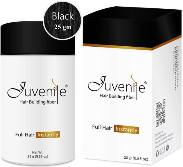 Juvenile Hair Fiber Hair Volumizers Hair Building Fiber Black JVNLHFBL25 Extreme Hair Volumizer Hair Building Fiber