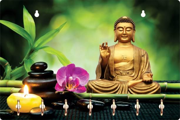 Gudki Lord Buddha Key holder Wood Key Holder
