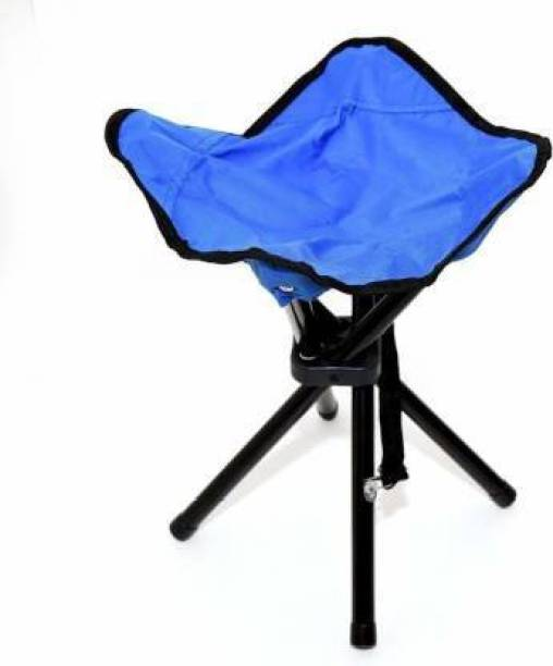 Premsakhi Portable Folding Tripod Metal Chair Camping and Travelling Fishing Stool Stool