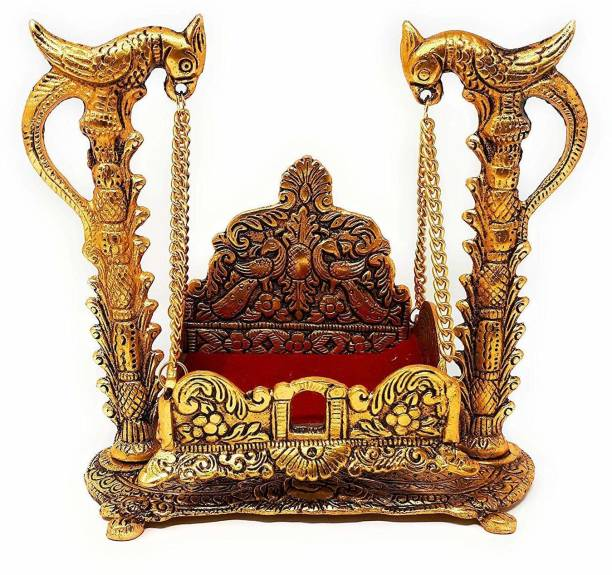 Chhariya Crafts Metal Krishna Jhula, Laddu Gopal Jhula, For Home And Office Jhula