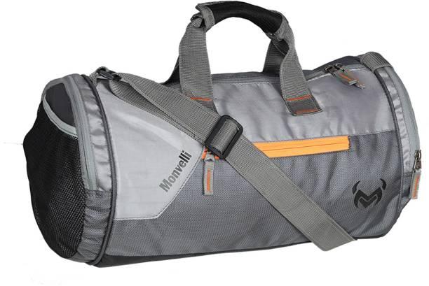 MONVELLI Grey Gym Bag