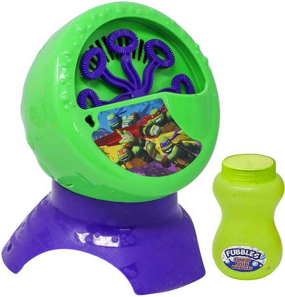 The Simplifiers Battery Operated Bubble Machine With Liquid (Ninja Turtles) Toy Bubble Maker