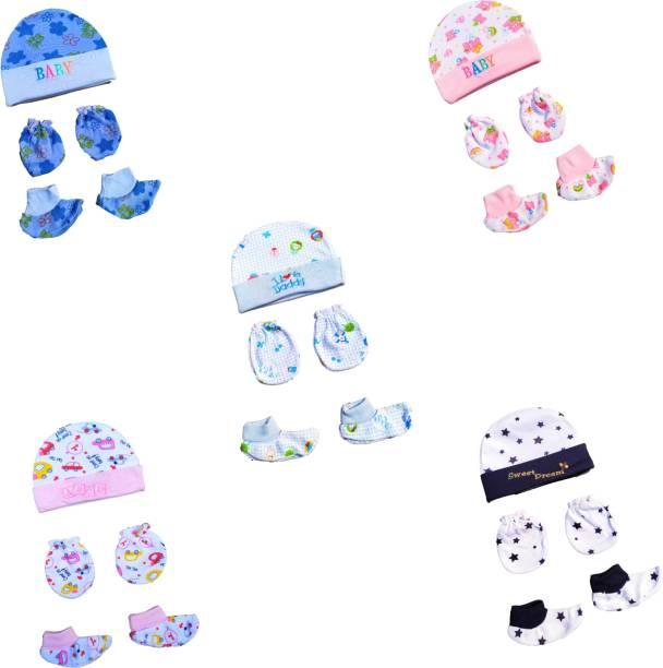 MOM & SON Baby Boys & Baby Girls Casual Cap Socks, Mitten