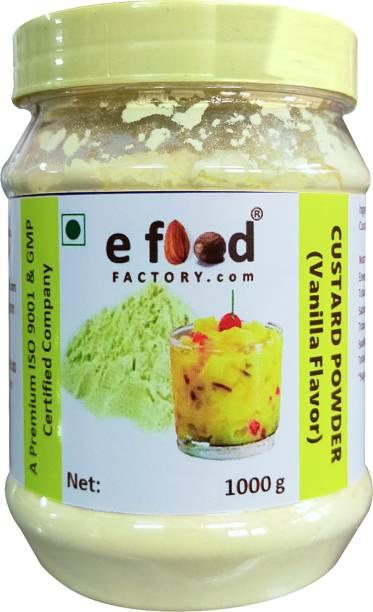 E Food Factory 1000 Gm Custard Powder ( Vanilla Flavor ) In Pet Jar Custard Powder