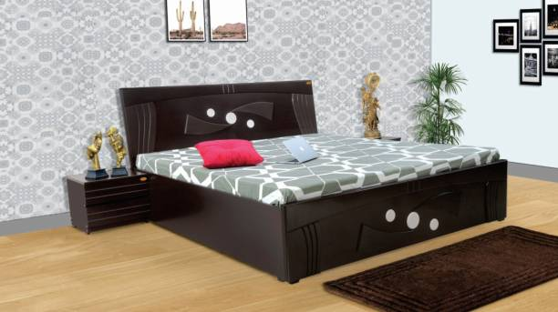 ELTOP SWORDS Double Bed For Home Bedroom Decorative Furniture Engineered Wood King Hydraulic Bed