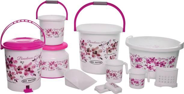 New kaptan Jumbo Bathroom Set 25 L Plastic Bucket