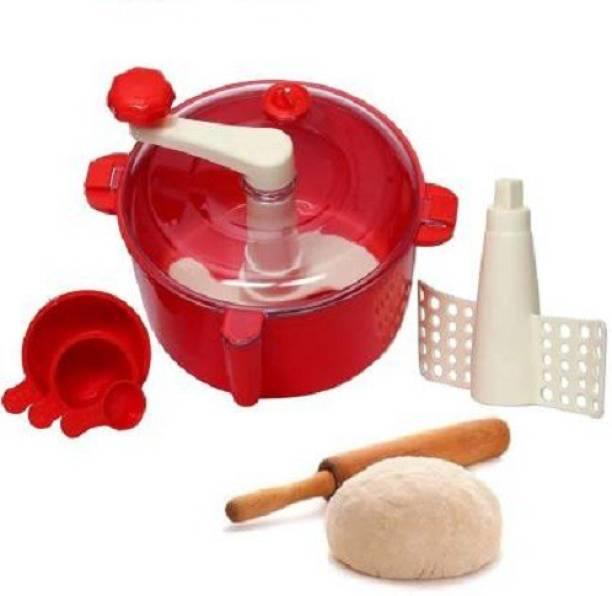 JESAVI ENTERPRISE Automatic Non Electric Dough Maker Machine Atta Maker for Kitchen Plastic Detachable Dough Maker Plastic Detachable Dough Maker