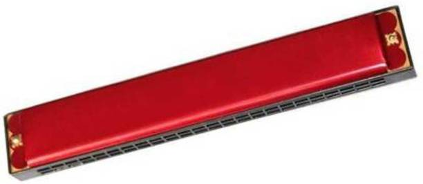 Bal samrat Red Color Mouth Organ 24 holes With 48 Tones Harmonica