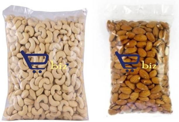 eBiz Dry Fruit Combo (Cashews (250g) & Almonds (250g) Premium Quality (2x250g) Cashews, Almonds