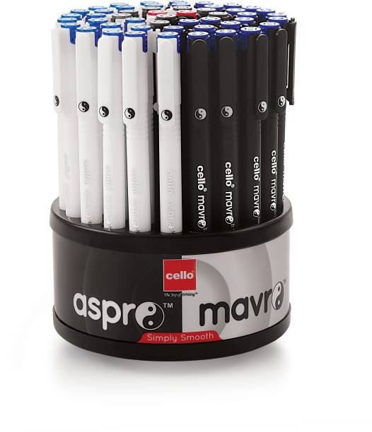 cello Aspro Mavro Ball Pen