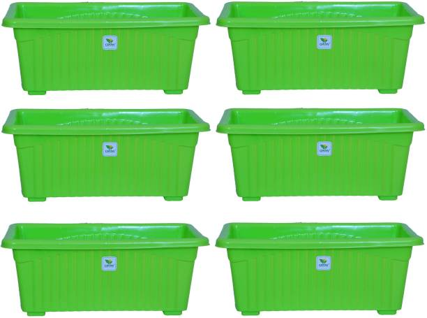 growplanter 14 Inch Green Jupiter set of 6 pieces Plant Container Set