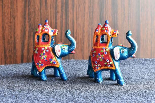 Brothers Creation Handcrafted Elephant Royal Sawari Ambabari Showpiece Decorative Showpiece Decorative Showpiece  -  11.5 cm