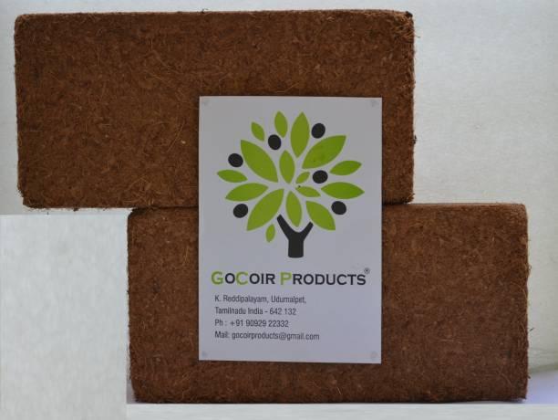 GoCoir Products Cocopeat Block Organic Potting Soil (1.25 Kg Cake) Manure