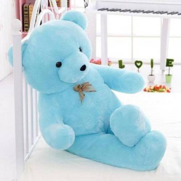 Macros Large Very Soft to Lovable & Huggable Blue 3 feet Teddy Bear for Girlfriend/ cute Valentine/Birthday Gifts/Boy/Girl/Kids  - 35.5 inch