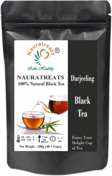 Nauratreats Darjeeling Black Tea 100g (40 + Cups) | Darjeeling Leaf Tea | Darjeeling Tea | Black Tea | Black Tea Leaves | Tea Leaves | Immunity Tea | Loose Leaf Tea Black Tea Pouch