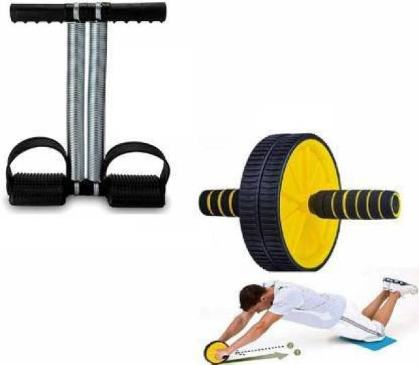 ADONYX Fat Burning AB Wheel With Tummy Trimmer Home Ab Exerciser