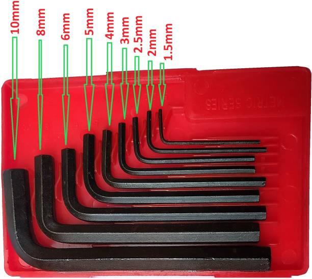 Inditrust Heavy Duty Anchor Hex allen key set of 9pc Allen Key Set