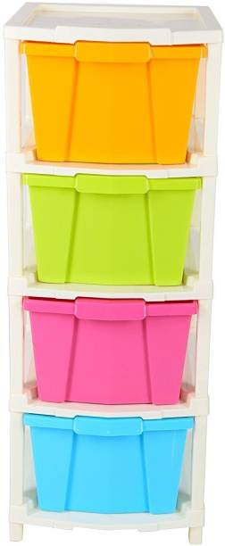 3D METRO SUPER STORE Plastic Free Standing Chest of Drawers