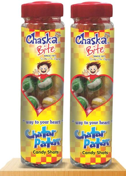 CHASKA BITE CHATAR PATAR COMBO PACK ( 2 X 250 GM ) FRUIT FLAVOR Candy