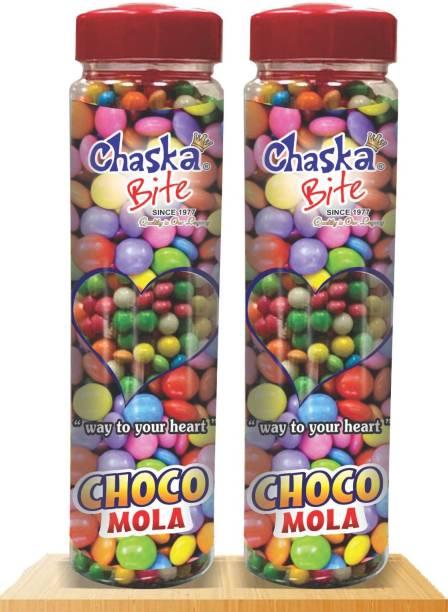 CHASKA BITE  Choco Mola Chocolate Gems Pack of 2  CHOCOLATE FLAVOR Candy