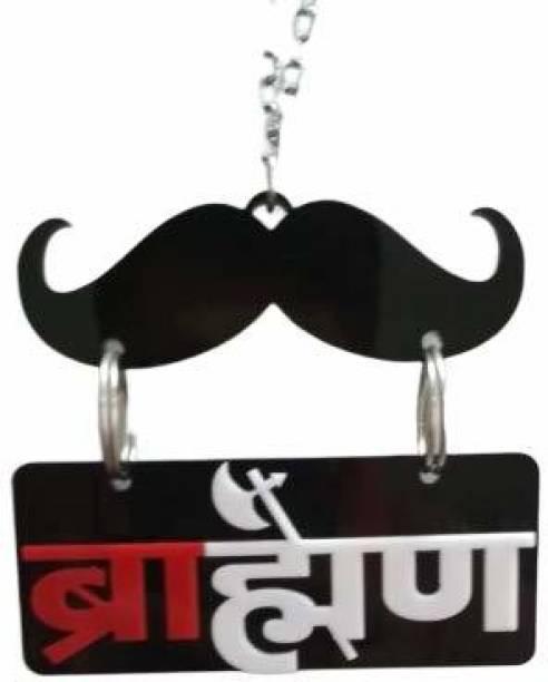 Ridivansh Creations Acrylic Car Hanging Brahman Sign Both Side Car Hanging Ornament