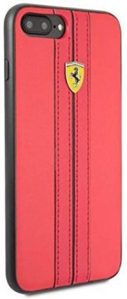 Ferrari Back Cover for Heritage Collection Leather Hard Case For Apple iPhone 7 Plus/8 Plus Ferrari Design & Logo (Red)