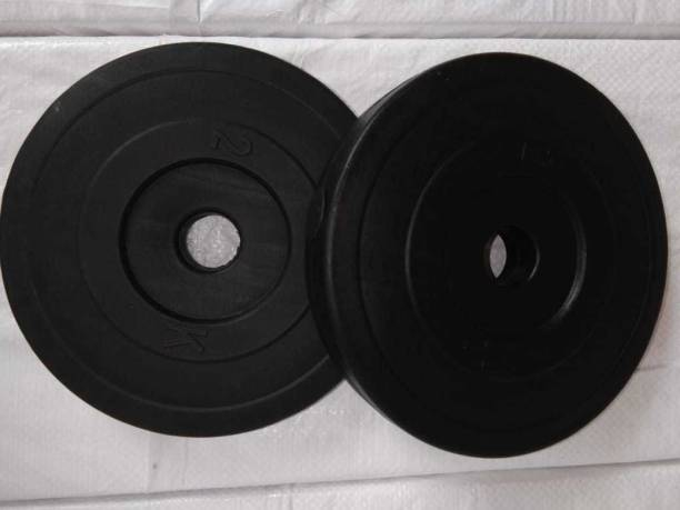 AARUSHWIN PRIME QUALITY 8 KG PVC PLATES IN BOX (4PC * 2KG) Black Weight Plate