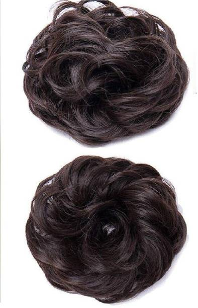 S K Bright Juda Extension For Women And Girls Hair In Black Color Pack Of 2 Bun