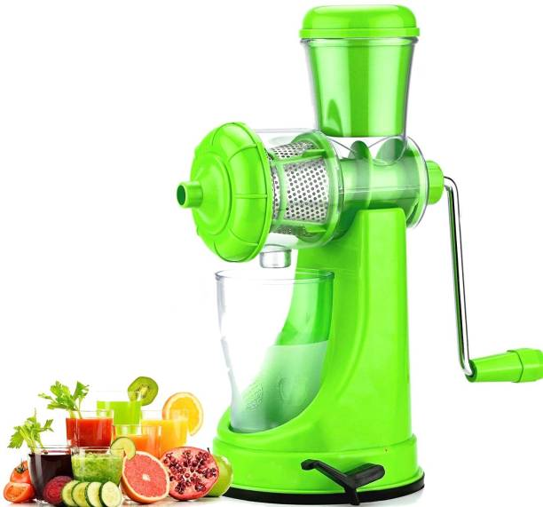 MYYNTI Plastic Hand Juicer Vegetables and Fruits Juicer Machine for Home and Kitchen