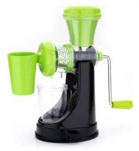 MYYNTI Plastic Hand Juicer Fruits and vegetables hand travel manual unbreakable vacuum locking system juicer with steel handle